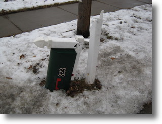 Mailbox Damaged by Snowplow