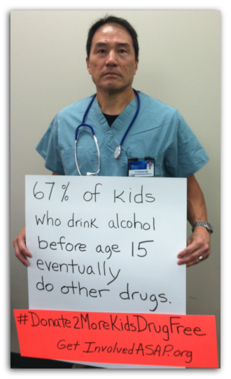 67% of kids who drink alcohol before age 15 eventually do other drugs