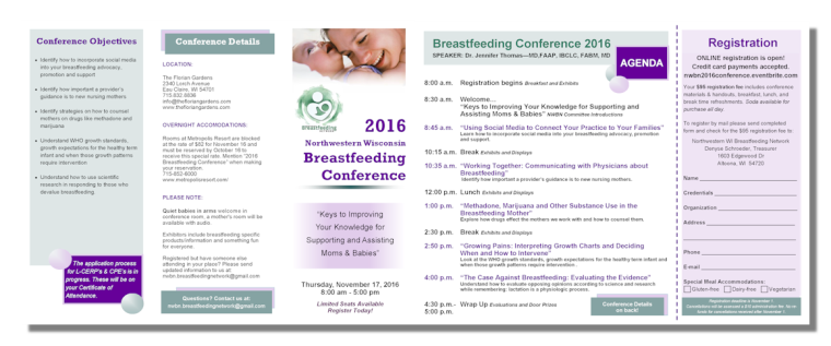 2016 NWBN Conference Brochure Photo