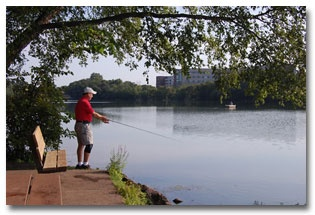 Fishing at Carson Park