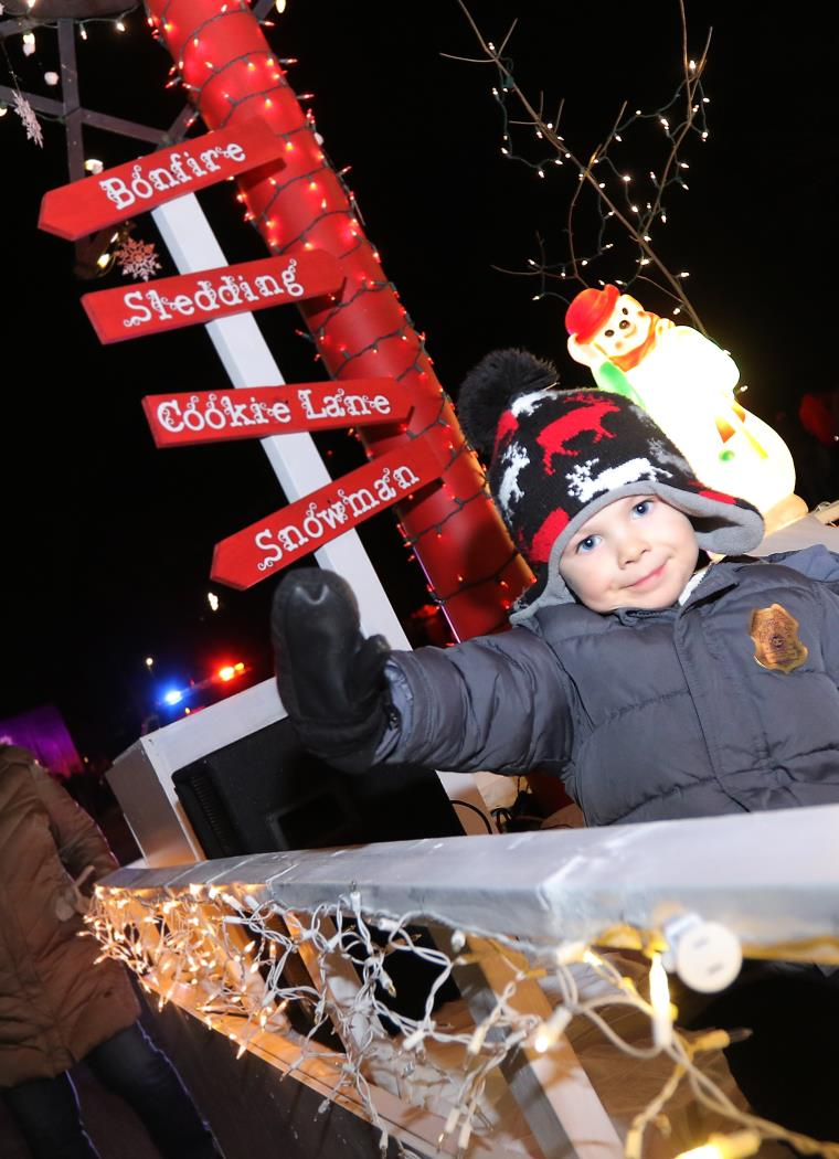 Boy on float in 2017 Parade