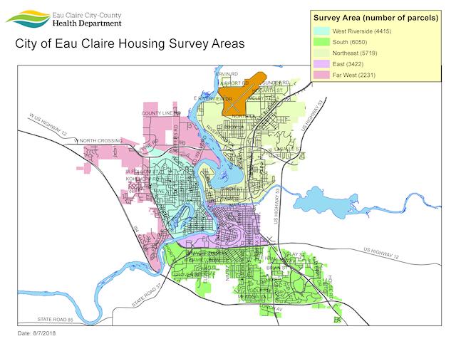 City of Eau Claire Housing Survey Areas