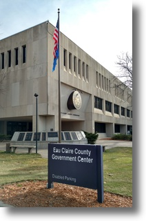 Front of EC County Courthouse