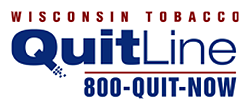 Quit Line logo with phone number 800-QUIT-NOW