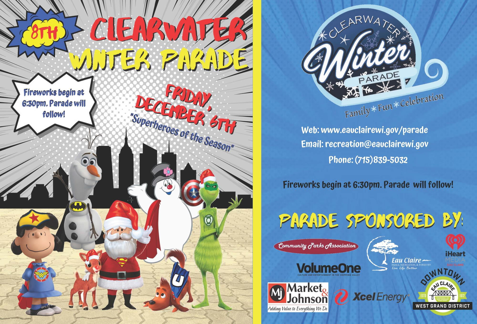 Clearwater Winter Parade Flyer