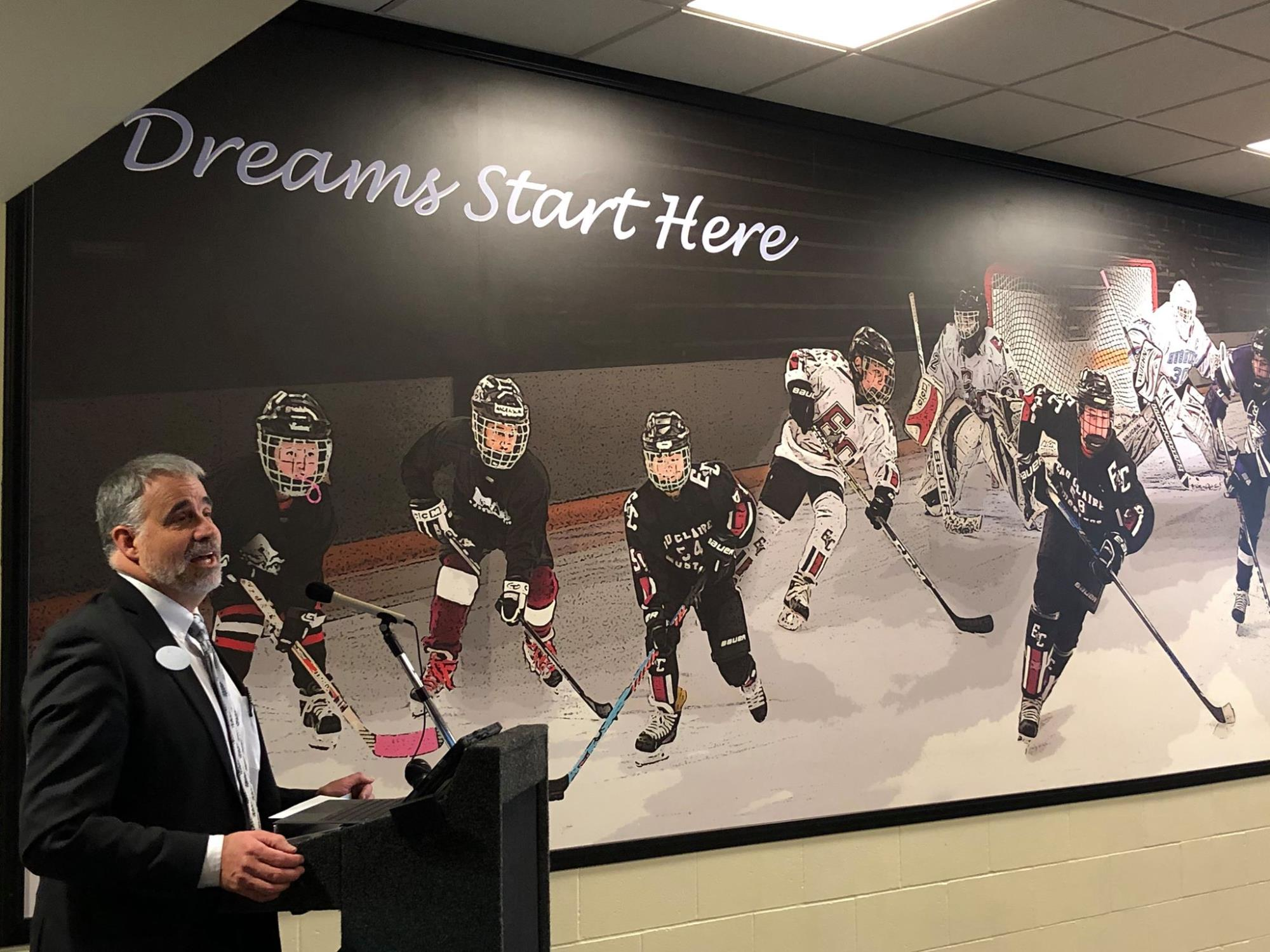Akervik and Mural Ceremony - Hobbs Ice Arena