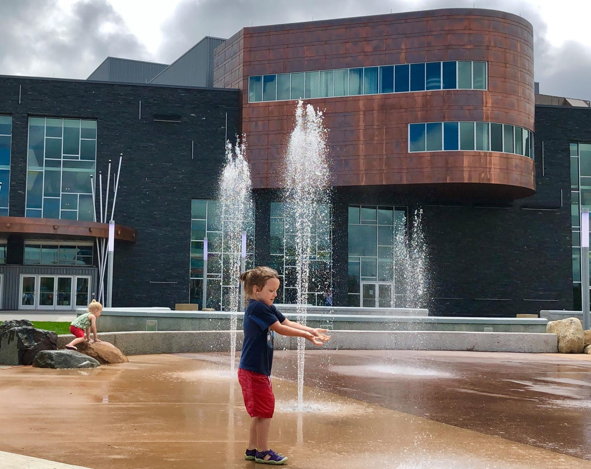 Enjoying The New Water Feature - Haymarket Plaza