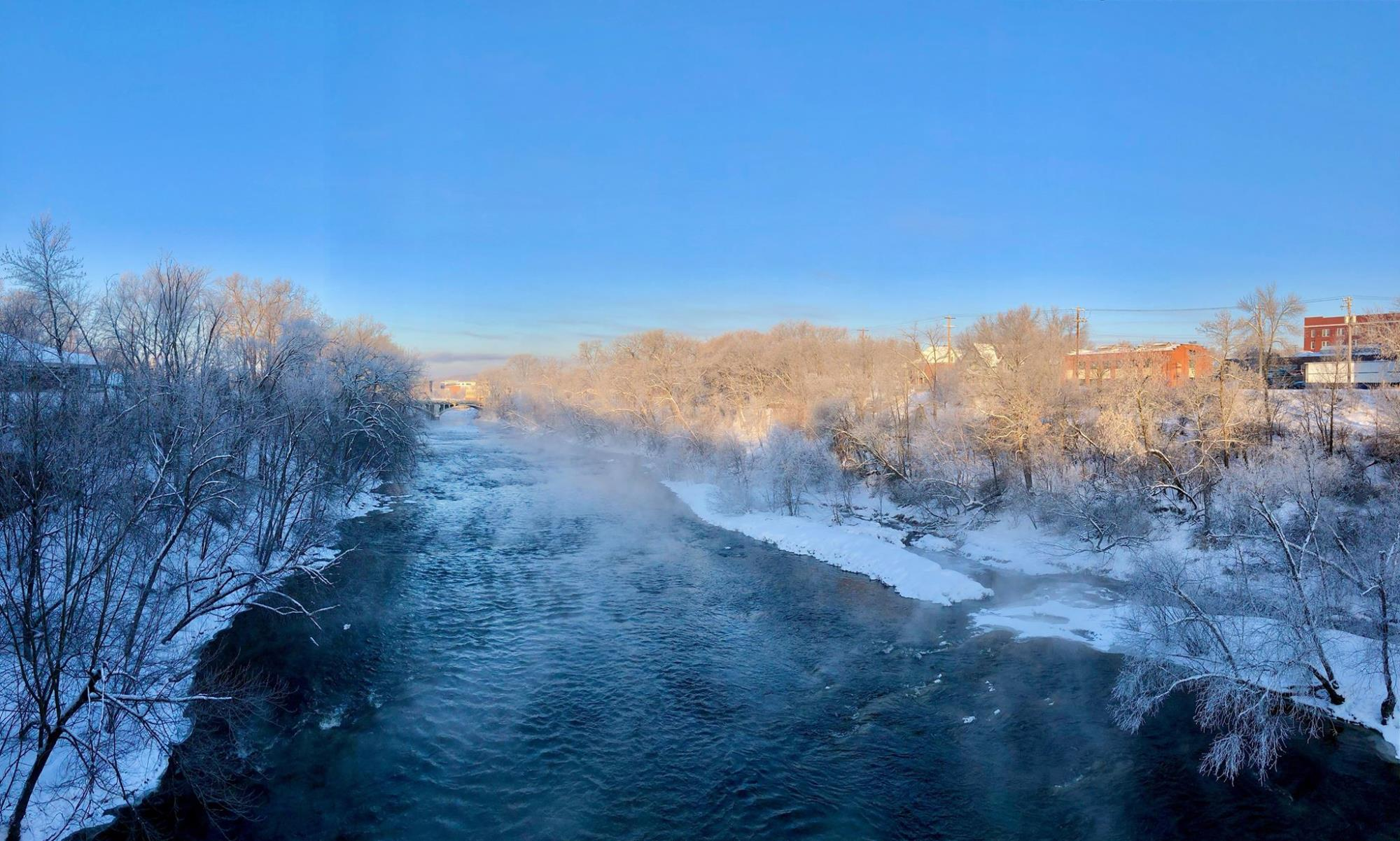 Frosty Morning on the Eau Claire River