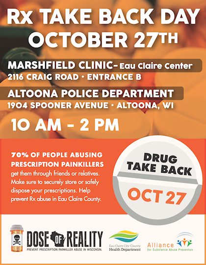 Rx Take Back Day - October 27th